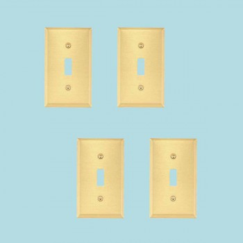<PRE>4 Switch Plate Brushed Brass Single Toggle/Dimmer </PRE>zoom2