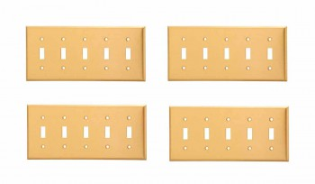 <PRE>4 Switch Plate Brushed Solid Brass Five Toggle </PRE>zoom1