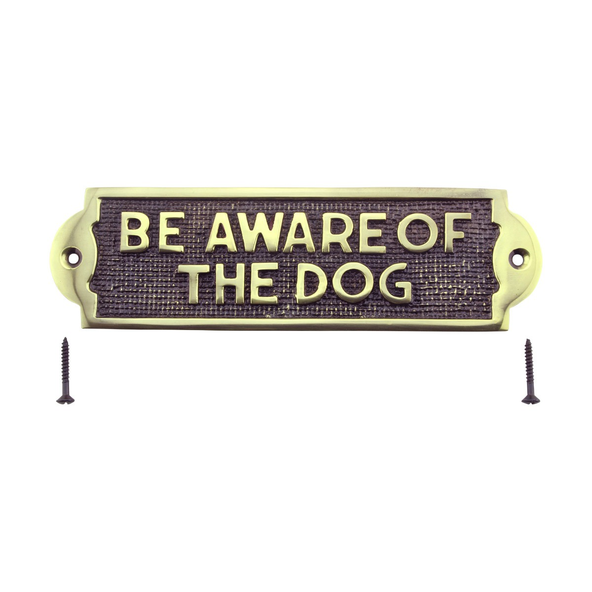 Polished Brass Plate Be Aware Of The Dog Sign Brass Plaques 2 18 H X 7 116 W Brass Plaques Brass Plate Brass Signs