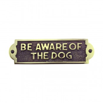 <PRE>Polished Brass Plate Be Aware Of The Dog Sign Brass Plaques 2 1/8 H X 7 1/16 W</PRE>zoom4