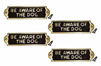 <PRE>Polished Brass Plate Be Aware Of The Dog Sign Brass Plaques 2 1/8 H X 7 1/16 W</PRE>zoom1
