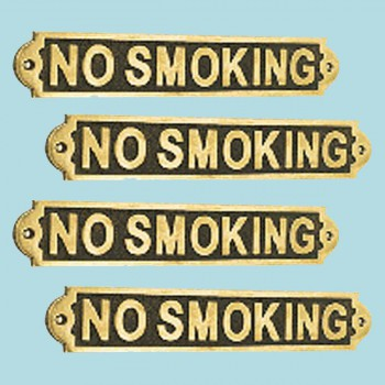 4 Solid Brass Plaques Sign NO SMOKING Polished Brass Plate Brass Plaques Brass Plate Brass Signs