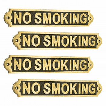 <PRE>4 Solid Brass Plaques Sign NO SMOKING Polished Brass Plate</PRE>zoom1