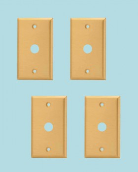 <PRE>4 Switch Plate Brushed Solid Brass 5/8inch ID Phone </PRE>zoom2