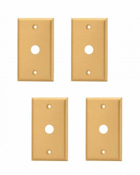 <PRE>4 Switch Plate Brushed Solid Brass 5/8inch ID Phone </PRE>zoom1