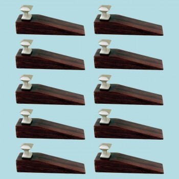 <PRE>10 Door Wedge Solid Mango Wood Satin Brass Knob Cherry </PRE>zoom2