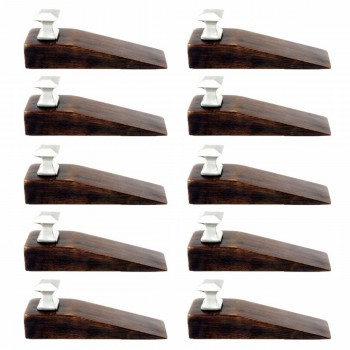 <PRE>10 Door Wedge Solid Mango Wood Satin Brass Knob Walnut </PRE>