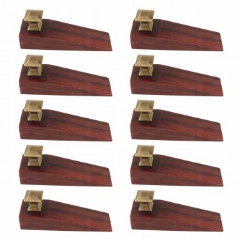 10 Door Wedge Solid Mango Wood Oil Rubbed Bronze Knob Cherry