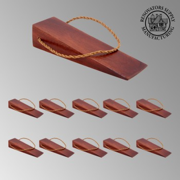<PRE>10 Door Wedge Solid Mango Wood Leather Hanging Loop Cherry </PRE>zoom2