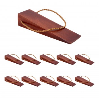 <PRE>10 Door Wedge Solid Mango Wood Leather Hanging Loop Cherry </PRE>zoom1