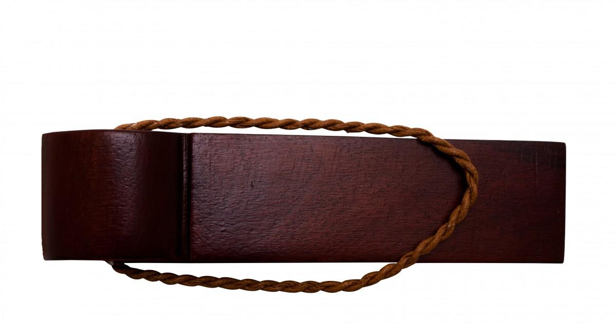 10 Door Wedge Solid Mango Wood Leather Hanging Loop Cherry Floor Stop Door Stop Door Bumper
