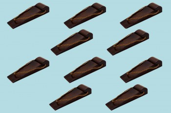 <PRE>10 Door Wedge Solid Mango Wood Leather Hanging Loop Brown </PRE>zoom2