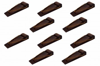 <PRE>10 Door Wedge Solid Mango Wood Leather Hanging Loop Brown </PRE>zoom1