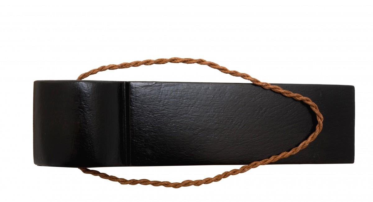 10 Door Wedge Solid Mango Wood Leather Hanging Loop Black Floor Stop Door Stop Door Bumper