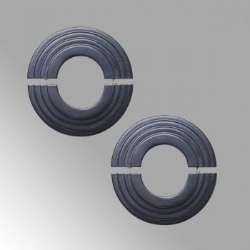 2 Radiator Flanges Black Aluminum Escutcheon 1 11/16 ID