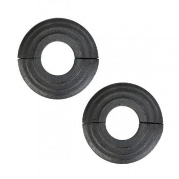 2 Radiator Flanges Black Aluminum Escutcheon 1 1/4 ID