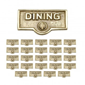 <PRE>25 Switch Plate Tags DINING Name Signs Labels Lacquered Brass </PRE>zoom1
