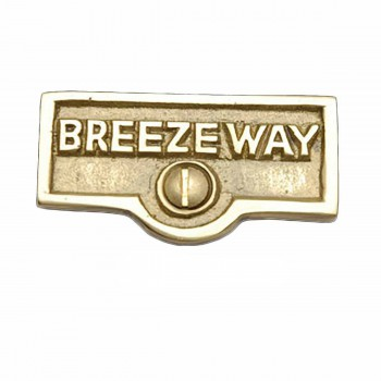 25 Switch Plate Tags BREEZEWAY Name Signs Labels Solid Brass Switch Plate Labels Switch Plate ID Labels Switch Plate Label