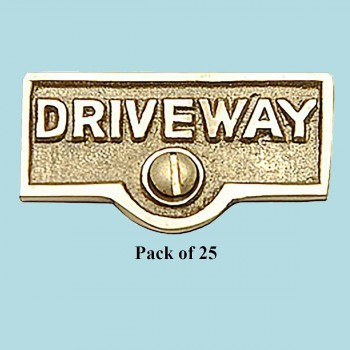 <PRE>25 Switch Plate Tags DRIVEWAY Name Signs Labels Brass </PRE>zoom2