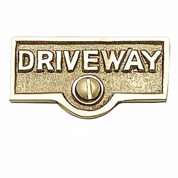 <PRE>25 Switch Plate Tags DRIVEWAY Name Signs Labels Brass </PRE>zoom1