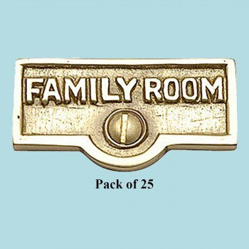 <PRE>25 Switch Plate Tags FAMILY ROOM Name Signs Labels Brass </PRE>zoom2