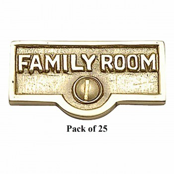 <PRE>25 Switch Plate Tags FAMILY ROOM Name Signs Labels Brass </PRE>zoom1