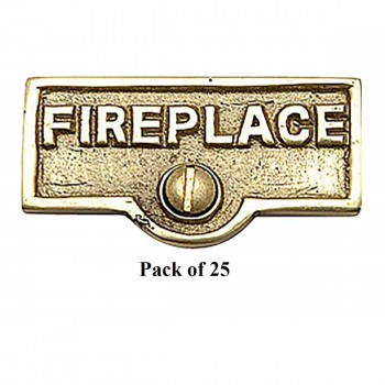 <PRE>25 Switch Plate Tags FIREPLACE Name Signs Labels Brass </PRE>zoom1