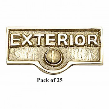 <PRE>25 Switch Plate Tags EXTERIOR Name Signs Labels Brass </PRE>zoom1