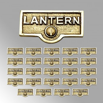 <PRE>25 Switch Plate Tags LANTERN Name Signs Labels Lacquered Brass </PRE>zoom2