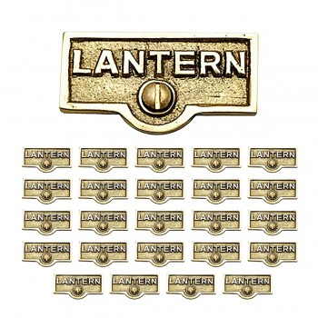 <PRE>25 Switch Plate Tags LANTERN Name Signs Labels Lacquered Brass </PRE>zoom1