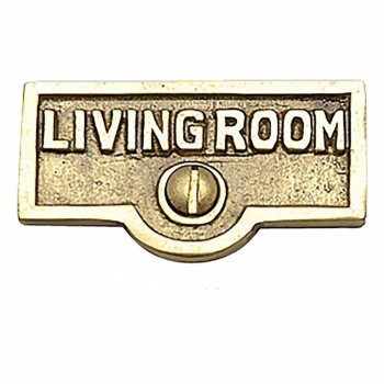 25 Switch Plate Tags LIVING ROOM Name Signs Labels  Brass Switch Plate Labels Switch Plate ID Labels Switch Plate Label