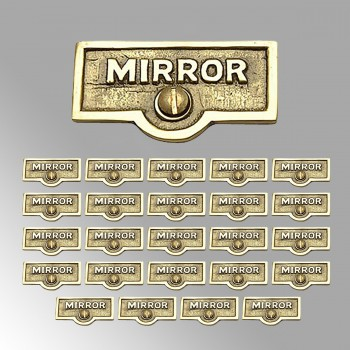 <PRE>25 Switch Plate Tags MIRROR Name Signs Labels Lacquered Brass </PRE>zoom2