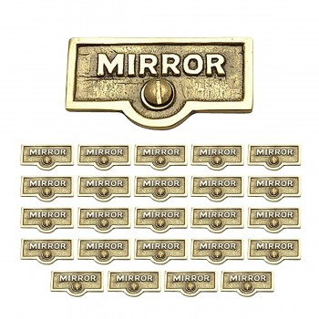 <PRE>25 Switch Plate Tags MIRROR Name Signs Labels Lacquered Brass </PRE>zoom1