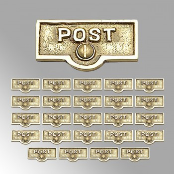 25 Switch Plate Tags POST Name Signs Labels Lacquered Brass Switch Plate Labels Switch Plate ID Labels Switch Plate Label