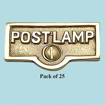 <PRE>25 Switch Plate Tags POST LAMP Name Signs Labels Brass </PRE>zoom2