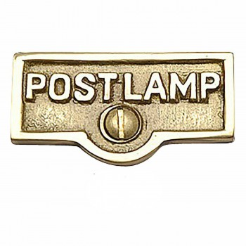25 Switch Plate Tags POST LAMP Name Signs Labels Brass Switch Plate Labels Switch Plate ID Labels Switch Plate Label