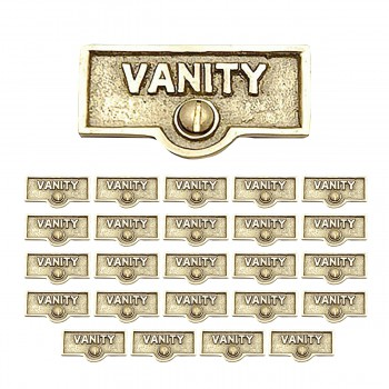 <PRE>25 Switch Plate Tags VANITY Name Signs Labels Lacquered Brass </PRE>zoom1