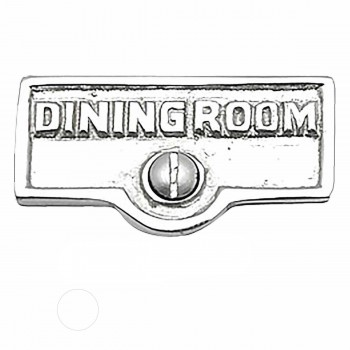 <PRE>25 Switch Plate Tags DINING ROOM Name Signs Label Chrome Brass </PRE>zoom1