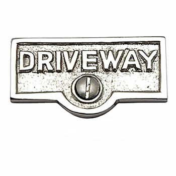 <PRE>25 Switch Plate Tags DRIVEWAY Name Signs Labels Chrome Brass </PRE>zoom1