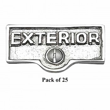 <PRE>25 Switch Plate Tags EXTERIOR Name Signs Labels Chrome Brass </PRE>zoom1
