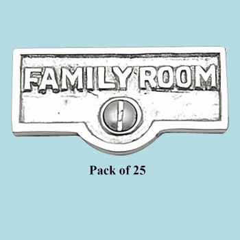 25 Switch Plate Tags FAMILY ROOM Name Signs Label Chrome Brass Switch Plate Labels Switch Plate ID Labels Switch Plate Label