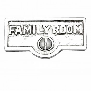 <PRE>25 Switch Plate Tags FAMILY ROOM Name Signs Label Chrome Brass </PRE>zoom1