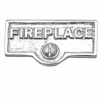 25 Switch Plate Tags FIREPLACE Name Signs Labels Chrome Brass Switch Plate Labels Switch Plate ID Labels Switch Plate Label