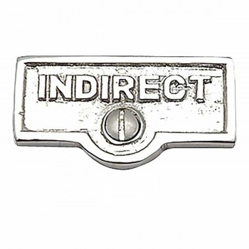 <PRE>25 Switch Plate Tags INDIRECT Name Signs Labels Chrome Brass </PRE>zoom1