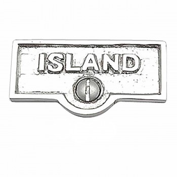 25 Switch Plate Tags ISLAND Name Signs Labels Chrome Brass Switch Plate Labels Switch Plate ID Labels Switch Plate Label
