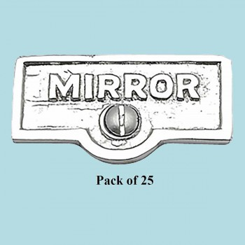 spec-<PRE>25 Switch Plate Tags MIRROR Name Signs Labels Chrome Brass </PRE>
