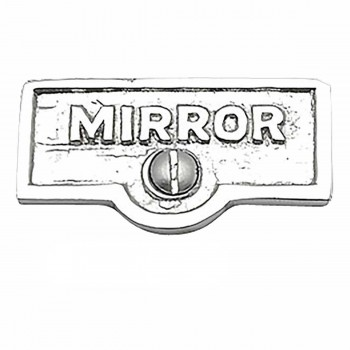 25 Switch Plate Tags MIRROR Name Signs Labels Chrome Brass Switch Plate Labels Switch Plate ID Labels Switch Plate Label