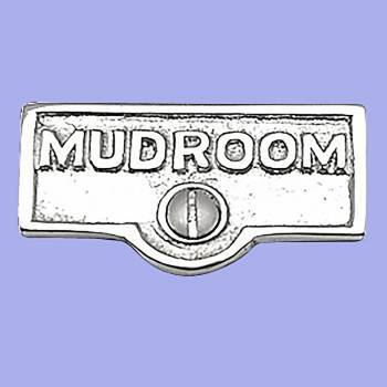 <PRE>25 Switch Plate Tags MUDROOM Name Signs Labels Chrome Brass </PRE>zoom2