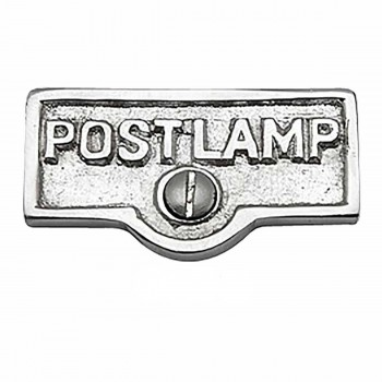 25 Switch Plate Tags POST LAMP Name Signs Labels Chrome Brass Switch Plate Labels Switch Plate ID Labels Switch Plate Label