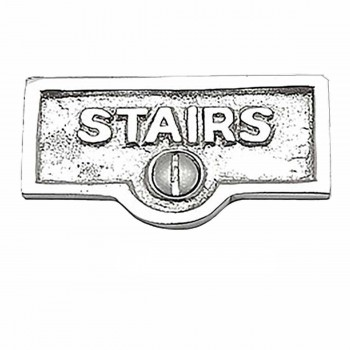 25 Switch Plate Tags STAIRS Name Signs Labels Chrome Brass Switch Plate Labels Switch Plate ID Labels Switch Plate Label
